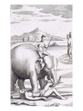An Execution by an Elephant, from 'An Historical Relation of the Island Ceylon', Pub. 1681 Giclee Print by Robert Knox