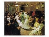 A Flamenco Party at Home, 1908 Premium Giclee Print by Francis Luis Mora