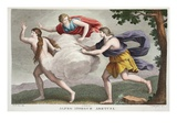 Arethusa into a Fountain, Book V, Illustration from Ovid's Metamorphoses, Florence, 1832 Giclee Print by Luigi Ademollo