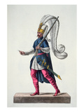 A Turkish Janissary Going to War in the Costume of the 16th Century Giclee Print by J. C. Bar
