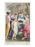 Tiresias Prophesies, Book III, Illustration from Ovid's Metamorphoses, Florence, 1832 Premium Giclee Print by Luigi Ademollo
