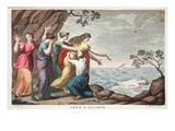 Ceyx and Alcyone, Book XI, Illustration from Ovid's Metamorphoses, Florence, 1832 Giclee Print by Luigi Ademollo