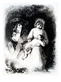 Germain and Marie from 'The Devil's Pool' by George Sand, 1851 (Engraving) Giclee Print by Tony Johannot