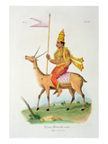 Vayu, Engraved by C. De Motte (1785-1836) (Colour Litho) Giclee Print by  French