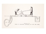 Diagram of the Mode of Cleansing Cesspools by Pump and Hose Giclee Print by  English