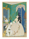 Illustration for 'Fetes Galantes' by Paul Verlaine (1844-96) 1923 (Pochoir Print) Giclee Print by Georges Barbier