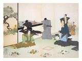 Offerings of Food (Colour Woodblock Print) Giclee Print by  Japanese