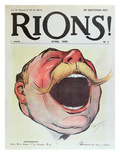 "Let's Laugh', Cover of ""Rions"" Magazine, 1908 (Colour Litho) Giclee Print by  Wallace"