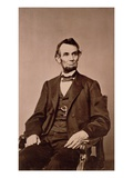 Portrait of Abraham Lincoln (1809-65) (B/W Photo) Lámina giclée por Mathew Brady