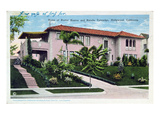 Home of Buster Keaton and Natalie Talmadge in Hollywood, 1930 (Colour Litho) Giclee Print by  American