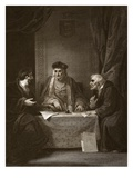 Henry Vii with Empson and Dudley, Engraved by Worthington Giclee Print by Robert Smirke