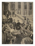 Officers' Triumphal Shouts at the Exit of Zola Giclee Print by F.L. Meaulle