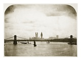 Houses of Parliament under Construction, London, C.1858 (B/W Photo) Giclee Print by Roger Fenton