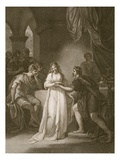 Vortigern and Rovena, Engraved by Delatre Giclee Print by William Hamilton