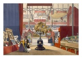 View of the Zollyverein Musical Instruments Stand at the Great Exhibition of 1851 Giclee Print by  English