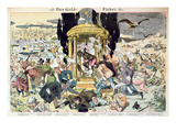 Gold Fever in the Transvaal, Late 19th Century (Colour Engraving) Giclee Print by  German
