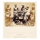 Korkoos, Aboriginal Tribe, Berar, from 'The People of India', by J. Forbes Watson, Published 1868 Giclee Print by  English Photographer