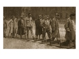 In Brest-Litovsk Hospital: Crippled Austrians Practising Walking with Artificial Limbs Giclee Print by  German photographer