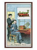 The Invention of Telegraphy with Morse Code, Number 65 in a Series of Cards Giclee Print by  French