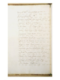 Letter Written in Code by Jean-Jacques Rousseau While Secretary to the French Ambassador in Venice Giclee Print by Jean Jacques Rousseau