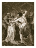 The Collector of the Poll-Tax Murder'D by Wat Tyler, Engraved by J. Hall Giclee Print by John Francis Rigaud
