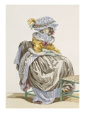 Young Woman Dressed in 'Anglais' Style, Engraved by Dupin, Plate No.215 Giclee Print by Francois Louis Joseph Watteau
