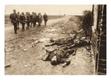 Fallen English after Street Fighting at the Village of Moreuil (B/W Photo) Giclee Print by  German photographer