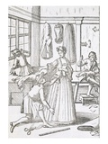 The Dressmaker (Engraving) Giclee Print by Elias Pomelius
