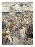They Have Sea-Green Hair, Illustration from 'A Wonder Book for Girls and Boys' Giclee Print by Arthur Rackham