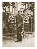 A Breton Onion Seller with His Wares, from 'Wonderful London', Published 1926-27 (Photogravure) Giclee Print by  English Photographer