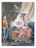 The Welcome News, Engraved by L. Marin, Pub. by Vivares, London, C.1770-80 (Coloured Engraving) Giclee Print by Jean-Baptiste Le Prince