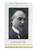 Eric Satie (1866-1925), French Composer, Portrait Photograph (B/W Photo) Giclee Print by  French Photographer