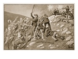 The Charge of the Inniskillings: the Battle of Pieter's Hill Giclee Print by Lance Thackeray