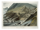Port Looe, Cornwall, from 'A Voyage around Great Britain Undertaken Between Years 1814 and 1825' Giclee Print by William Daniell