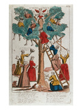 The Tree of Love (Coloured Engraving) Giclee Print by  French