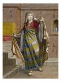 An African Woman, Plate 96 Giclée-Druck von Jean Baptiste Vanmour