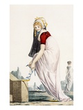 Young Lady in Grecian Style Summer Outfit, 1700 Giclee Print by Philibert Louis Debucourt