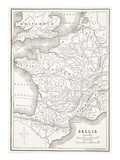 Gallia (Litho) Premium Giclee Print by  English