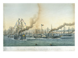 The Arrival of Napoleon Iii (1808-73) in Algeria with an Escort of Battleships, 1st May 1865 Giclee Print by Louis Le Breton