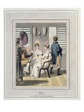 A European Lady, Attended by a Servant, Using a Hand Punkah or Fan Giclee Print by Charles D'oyly