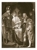 Baliol Surrendering His Crown to Edward I, Engraved by J. Parker Giclee Print by John Opie