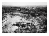 View of the Battlefield at Cormicy, Taken by the German First Army on 27th May, 1918 (B/W Photo) Giclee Print by  German photographer