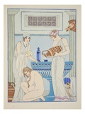 Pouring Water over the Patient, Illustration from 'The Works of Hippocrates', 1934 (Colour Litho) Giclee Print by Joseph Kuhn-Regnier