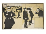 Illustration from 'L'Assiette Au Beurre: La Police', 23rd May 1903 (Colour Litho) Giclee Print by Georges d' Ostoya