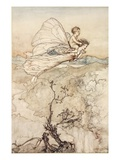 ..And Her Fairy Sent to Bear Him to My Bower in Fairy Land Giclee Print by Arthur Rackham