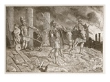 The Plough Driven over the Site of Carthage (Litho) Giclee Print by  English