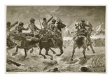 Mahsameh, Scene in the Egyptian War of 1882, Engraved by W.J. Palmer (Engraving) Giclee Print by Richard Caton Woodville