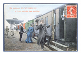 Holiday Postcard from Saint-Brieuc, C.1910 (Colour Litho) (After a Photo) Giclee Print by  French
