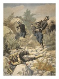 In Corsica: Police and Gangster, Illustration from 'Le Petit Journal: Supplement Illustre', 1898 Giclee Print by  French