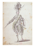 Costume for Rinaldo in the Opera 'Rinaldo and Armida' Performed in 1761 Giclee Print by Nicolas Boquet